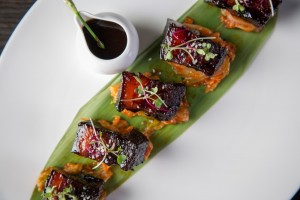 Pork belly with kimchi and royal sauce