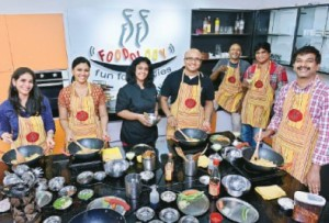 Shree Periakaruppan, Foodology The smart studio kitchen has a dozen cooking stations and enough high-end appliances and cookware for 20 people. Photo: A Raja Chidambaram