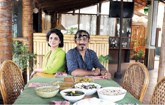KC & Priya Aiyappa, Coorg Their weekend-only pop-up in Bangalore's Indiranagar specialises in food of the Kodavas, which is hardly available beyond Coorg. At present, they only do a buffet spread, with the cooking handled by Priya and two family cooks. Photo: Nagesh Polali